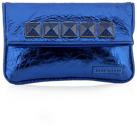 Marc Jacobs Collection Eugenie Glitter Studs Wristlet, Cobalt