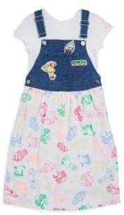 Kenzo Little Girl's& Girl's Denim Suspender Dress