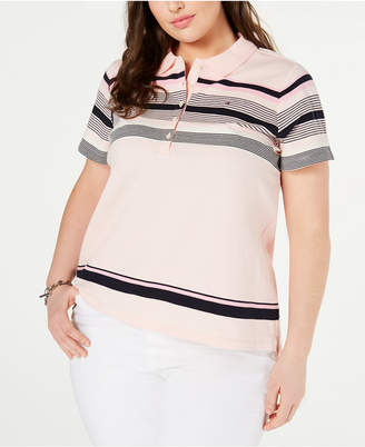 Tommy Hilfiger Plus Size Striped Polo Top