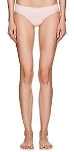 BEIGE Kisuii Women's Smocked Bikini Bottom - Beige, Tan