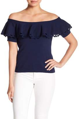 Cynthia Steffe CeCe by Off-the-Shoulder Cutout Blouse