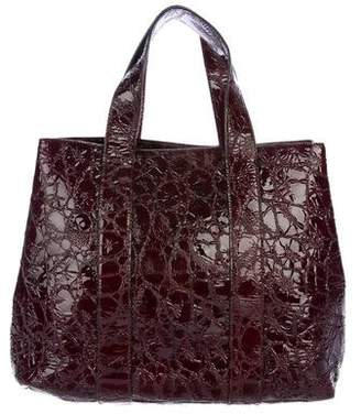 Alaia Embossed Patent Leather Tote