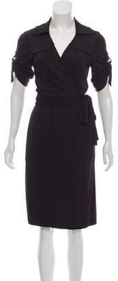 Diane von Furstenberg Short Sleeve Midi Dress