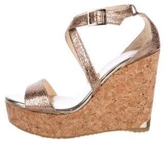 Jimmy Choo Wedge Leather Sandals