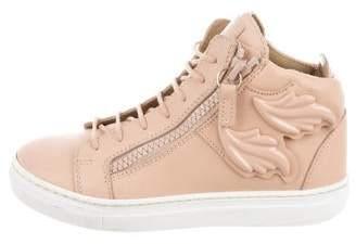 024a26145c478 Giuseppe Zanotti Girls' Leather High-Top Sneakers