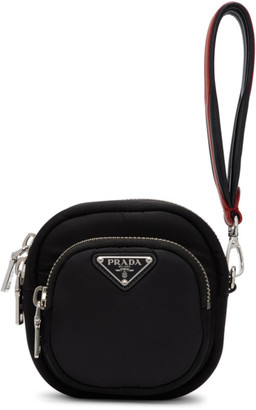 Prada Black Single Pocket Clutch
