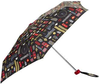 Harrods Glitter London Umbrella