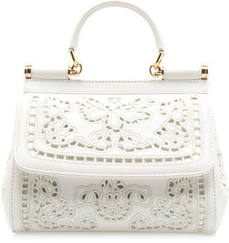 Dolce & Gabbana Sicily Small Leather Shoulder Bag
