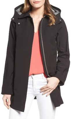 Women's Vince Camuto Hooded Fly Front Stadium Jacket $158 thestylecure.com