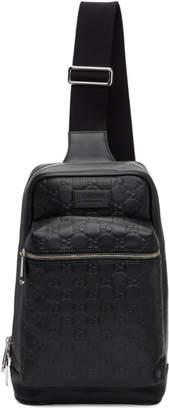 Gucci Black GG Single Strap Backpack