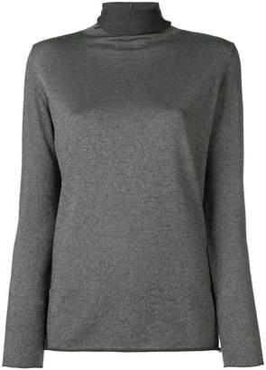 Fabiana Filippi roll neck lamé sweater