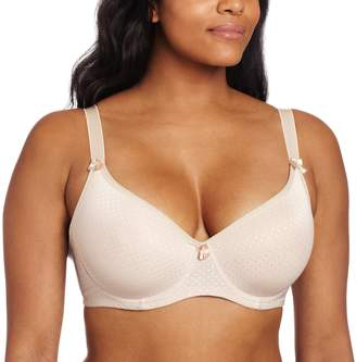 Carnival Womens Full Figured Seamless Jacquard Dots Bra