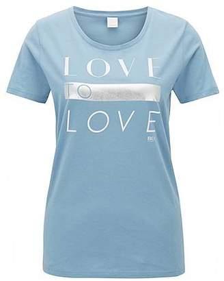 HUGO BOSS Cotton-jersey T-shirt with printed slogan