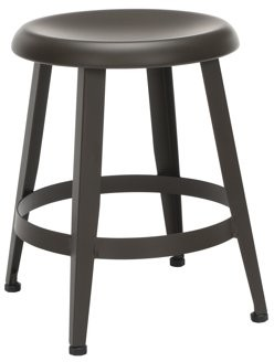 """OFM Core Collection Edge Series 18"""" Table Height Metal Stool, in Antique Brown (33918M-ABRN)"""