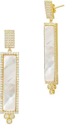 Freida Rothman Color Theory Pave Bar Drop Earrings