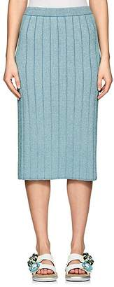 Marc Jacobs Women's Metallic Rib-Knit Pencil Skirt