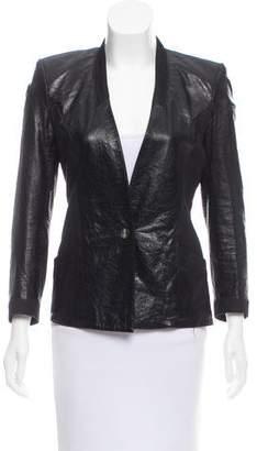 Helmut Lang Leather-Paneled Structured Blazer