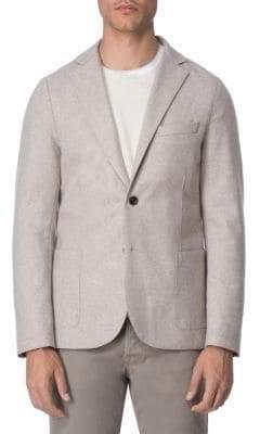Eleventy Laser-Cut Flannel Jersey Jacket