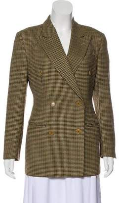 Burberry Houndstooth Double-Breasted Blazer