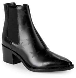 Valentino Star Leather Chelsea Boots