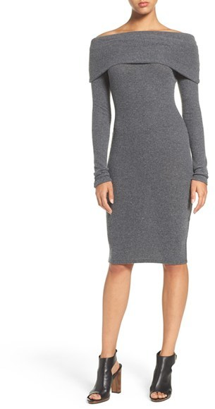 Women's Nsr Off The Shoulder Body-Con Sweater Dress 5