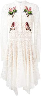Stella McCartney embroidered robin lace dress