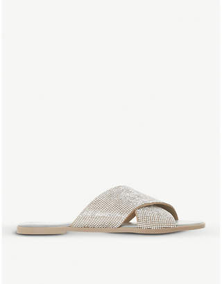 Dune Nevadaa diamanté strap sandals
