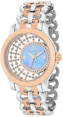 CHRISTIAN VAN SANT Christian Van Sant Womens Delicate Two-Tone & Purple Faux Pearl Watch