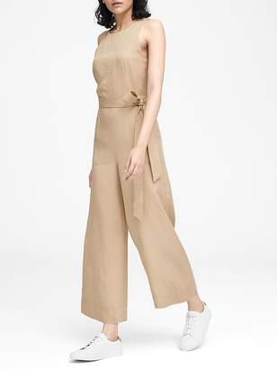 Banana Republic Petite TENCELTM Cropped Wide-Leg Jumpsuit