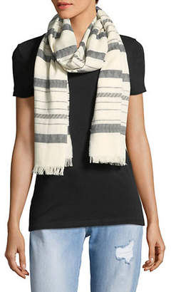 Eileen Fisher Patterned Frayed Scarf