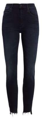 Mother Stunner High-Rise Frayed Skinny Jeans
