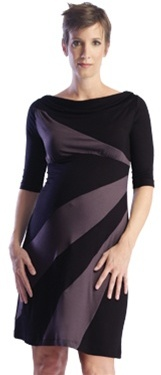 Maternity dress with diagonal detail