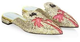 Chiara Ferragni Palm Tree Glitter Sabot Slip-On
