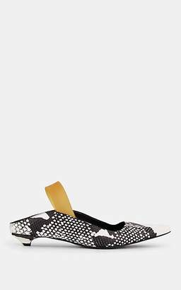 Proenza Schouler Women's Stamped-Leather Slingback Mules