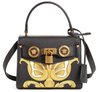 Versace Mini Icon Top Handle Leather Crossbody Bag
