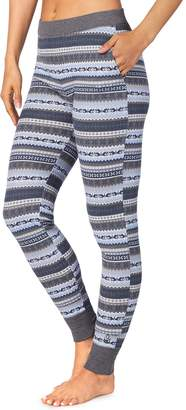 Cuddl Duds Women's Strecth Waffle Thermal Leggings