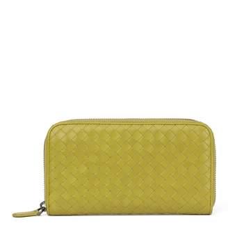 Bottega Veneta Yellow Leather Wallets