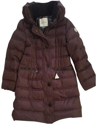 Moncler Long Purple Polyester Coats