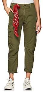 RE/DONE Women's Cotton Twill Crop Cargo Pants - Dk. Green