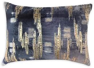 Callisto Home Foil-Accented Velvet Pillow