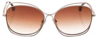 Alice + Olivia Collins Tinted Sunglasses