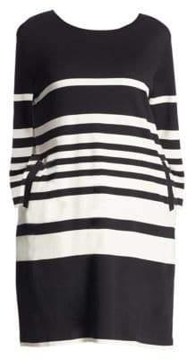 Joan Vass Striped Cotton Dress