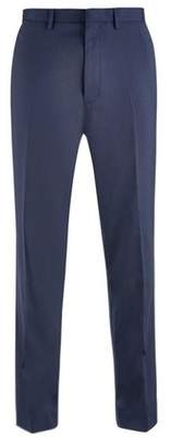 Mens Big & Tall Navy Essential Stretch Tailored Fit Trousers