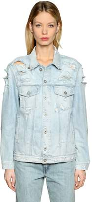Diesel Destroyed Cotton Denim Jacket