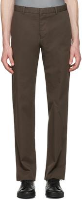Jil Sander Brown Twill Morris Trousers $550 thestylecure.com