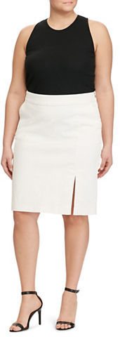 Lauren Ralph LaurenLauren Ralph Lauren Plus Cotton-Blend Pencil Skirt