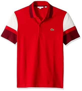 fa5a783bd102 Lacoste Men s S S Colorblock Strech Pique Slim FIT Polo