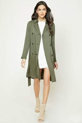 Forever 21 Double-Breasted Trench Coat
