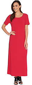 Linea by Louis Dell'Olio Regular Short SleeveMoss Crepe Maxi