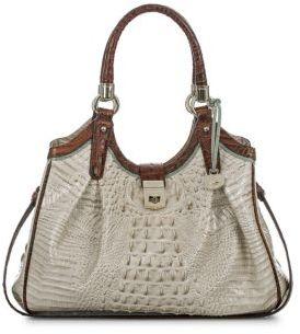Brahmin Leather Croc-Effect Handbag $395 thestylecure.com